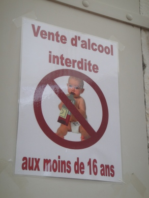 Babies can't drink in public.