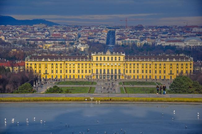 Panorama near Schloss Schönbrunn