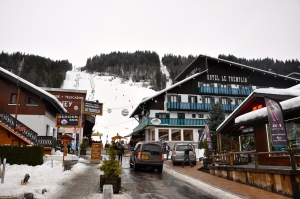 The slopes literally run into the hotel, making it really convenient for the skiers