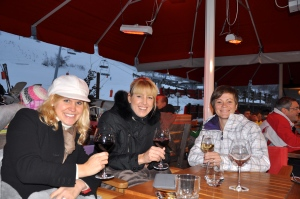 The ladies with our wine