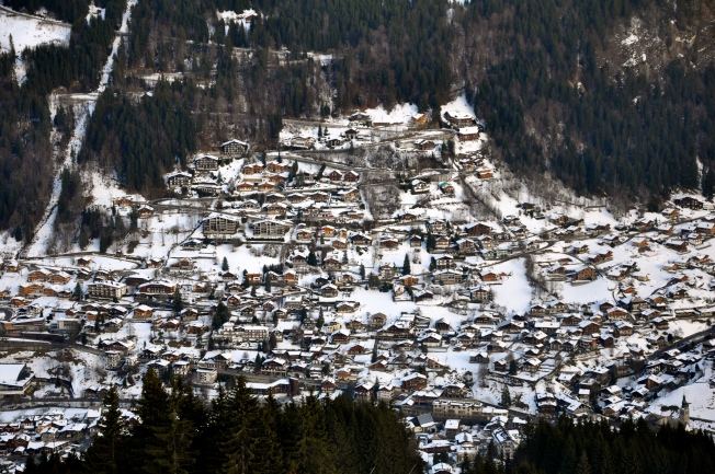 The village of Morzine, France