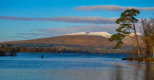 Taking off down the river towards Loch Lomond