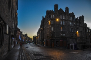 An early morning walk on the Royal Mile