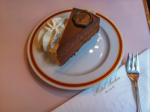 The sachertorte was invented in Vienna