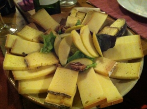 The cheese plate that came after dinner