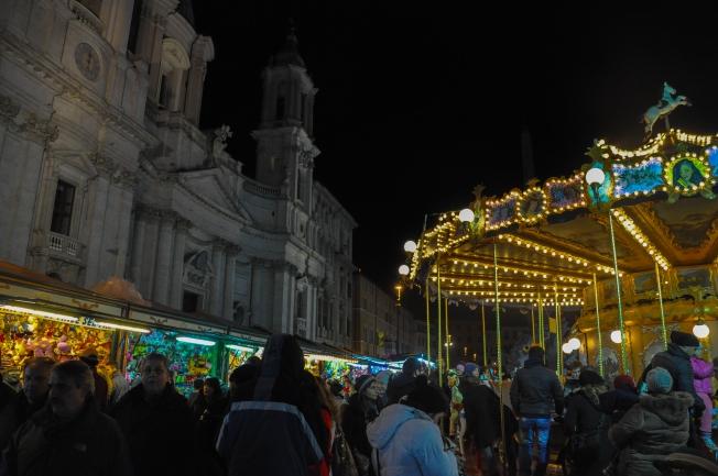 Carousel & game stalls
